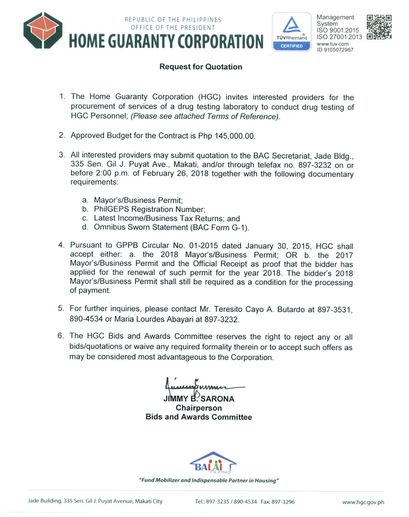 HGC Invitation to Submit Proposal